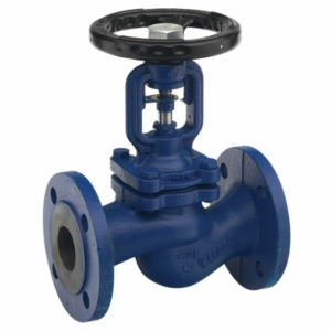 "1.5"" Cast Iron Bellows Seal Globe Valves Flanged PN16 Handwheel Stainless Steel PN16"