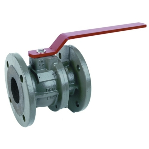 "1.5"" Flanged PN16 2 PCE Full Bore Ductile Iron Ball Valves Lever Operated PTFE PN40 DIN 3202 F4"