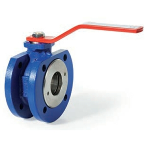 "2.5"" Flanged PN16 1 PCE Full Bore Cast Iron Ball Valves Lever Operated RPTFE PN16 ISO 5211 Direct Mount"