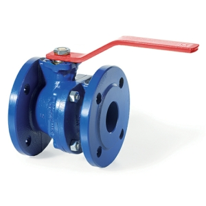 "0.75"" Flanged PN6 2 PCE Full Bore Ductile Iron Ball Valves Lever Operated RPTFE PN16 DIN 3202 F4 ISO 5211 Direct Mount"