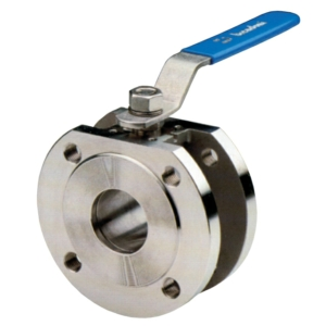 "6"" Flanged PN16 1 PCE Full Bore Stainless Steel Ball Valves Lever Operated PTFE PN16 Wafer"