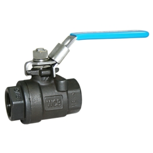 "1"" Screwed BSPP 2 PCE Full Bore Carbon Steel Ball Valves Lever Operated RPTFE 1000 PSI Atex Approved Anti Static Locking Lever"