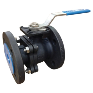 "6"" Flanged PN16 RF 2 PCE Full Bore Carbon Steel Ball Valves Lever Operated PTFE PN10 API 607 Firesafe TA-LUFT Atex Approved Anti Static Locking Lever Direct Mount"