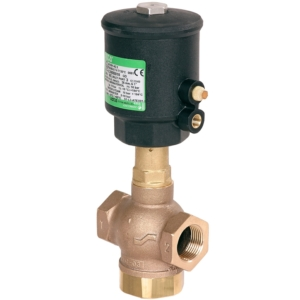 "1"" Screwed BSPT 3/2 Normally Closed Bronze Pressure Operated Valves PTFE E390B008 0-40 Air"
