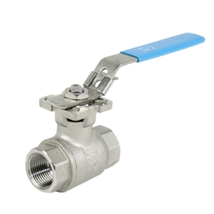 "1"" Screwed BSPP 2 PCE Full Bore Stainless Steel Ball Valves Lever Operated PTFE TFM 1600 1000 PSI Atex Approved SIL Rated Locking Lever Direct Mount Wras Approved Seat Anti Static Blow Out Proof Stem Silicone Free"