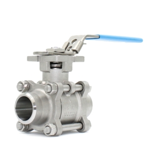 "1.25"" Butt Weld 3 PCE Full Bore Stainless Steel Ball Valves Lever Operated PTFE TFM 1600 1000 PSI Atex Approved SIL Rated Locking Lever Direct Mount Wras Approved Seat Anti Static Blow Out Proof Stem Silicone Free"