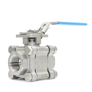 ".75"" Screwed NPT 3 PCE Full Bore Stainless Steel Ball Valves Lever Operated PTFE TFM 4215 2000 PSI Atex Approved Firesafe API 607 5th Ed 2005 SIL Rated Locking Lever Direct Mount Wras Approved Seat Anti Static Blow Out Proof Stem Silicone Free"