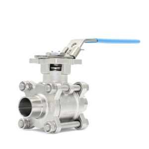 "2.5"" Hygienic Weld BS4825 3 PCE Full Bore Stainless Steel Ball Valves Lever Operated PTFE Cavity Filled 400 PSI Atex Approved SIL Rated Locking Lever Direct Mount Wras Approved Seat Anti Static Blow Out Proof Stem Silicone Free"