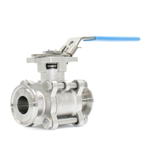 "2"" Tri Clamp BS4825 3 PCE Full Bore Stainless Steel Ball Valves Lever Operated PTFE Cavity Filled 400 PSI Atex Approved SIL Rated Locking Lever Direct Mount Wras Approved Seat Anti Static Blow Out Proof Stem Silicone Free"