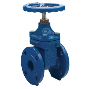 "4"" Flanged PN16 Ductile Iron Gate Valves Inside Screw-Non Rising Stem Handwheel PN16 DIN 3202 F4 CV5142-DN0100"