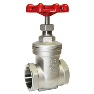 "1.25"" Screwed NPT Stainless Steel Gate Valves Non Rising Stem Handwheel 200 PSI CV6600-DN0032"