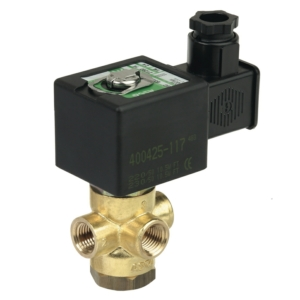 "1/4"" Screwed NPT 3/2 Normally Closed Brass Solenoid Valves 24VAC/50Hz NBR Buna SCB320A1842450 0-10 Air"