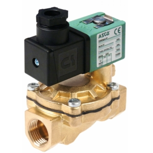 "1/2"" Screwed BSPP 2/2 Normally Closed Brass Solenoid Valves 24VDC NBR Buna SCXG238A04724DC26053 0-6 Air"