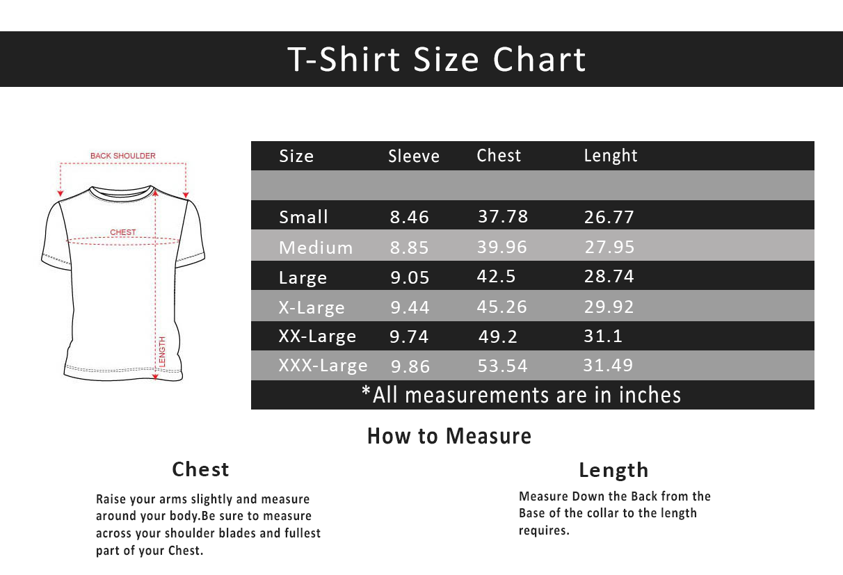Mens Shirt Size Chart Neck