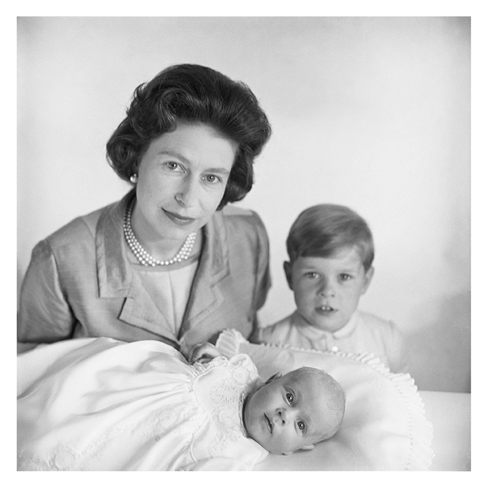 Queen Elizabeth Ii With Prince Edward And Prince Andrew