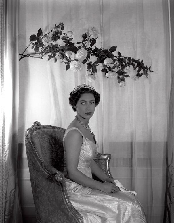 Princess Margaret Sitting Under A Branch Of Roses Custom