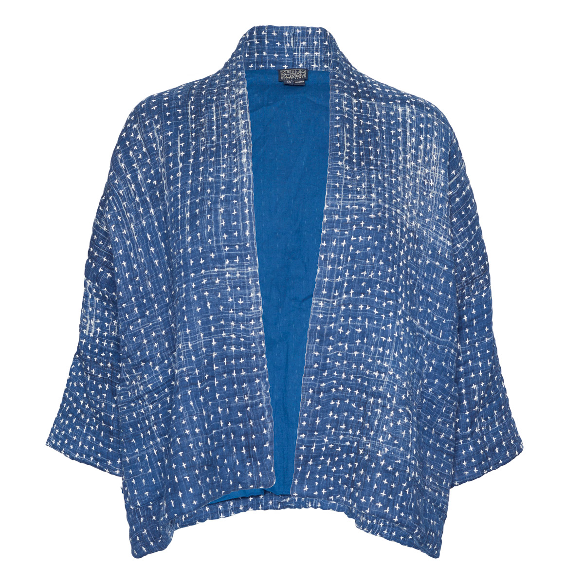 Indigo Crosses Quilted Jacket