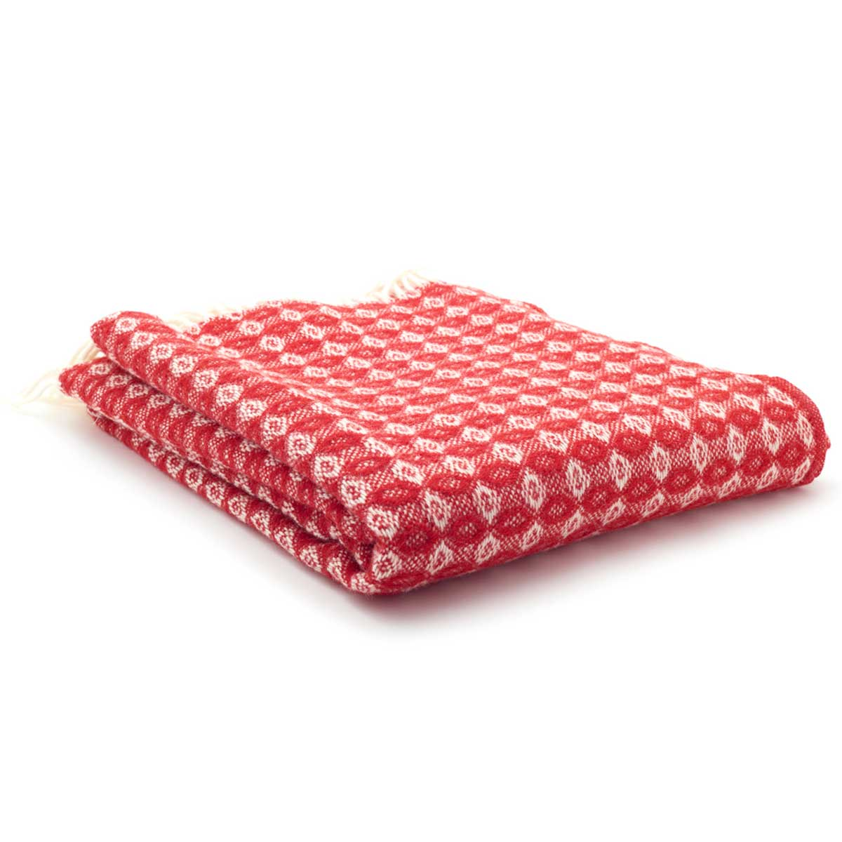 Red Cobweave Throw Blanket