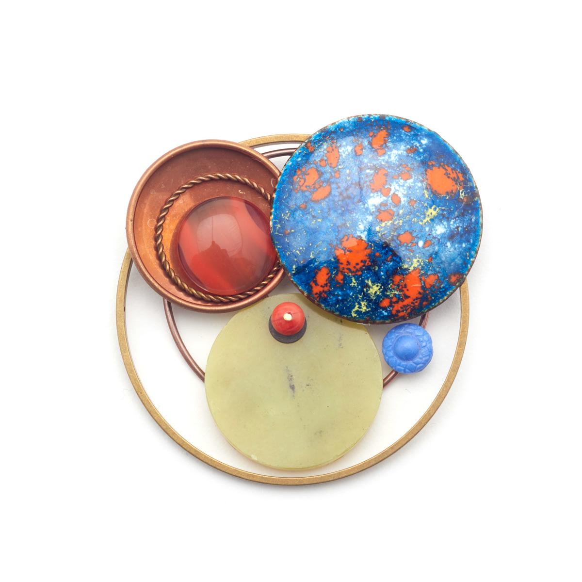 Vintage Planets brooch by Joli
