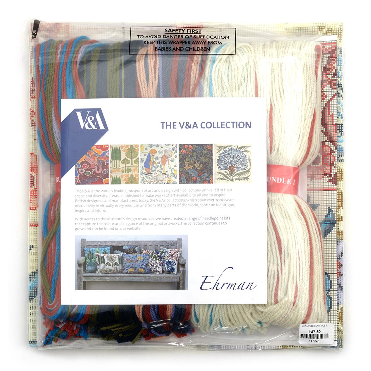 Regents tile needlepoint kit by Ehrman