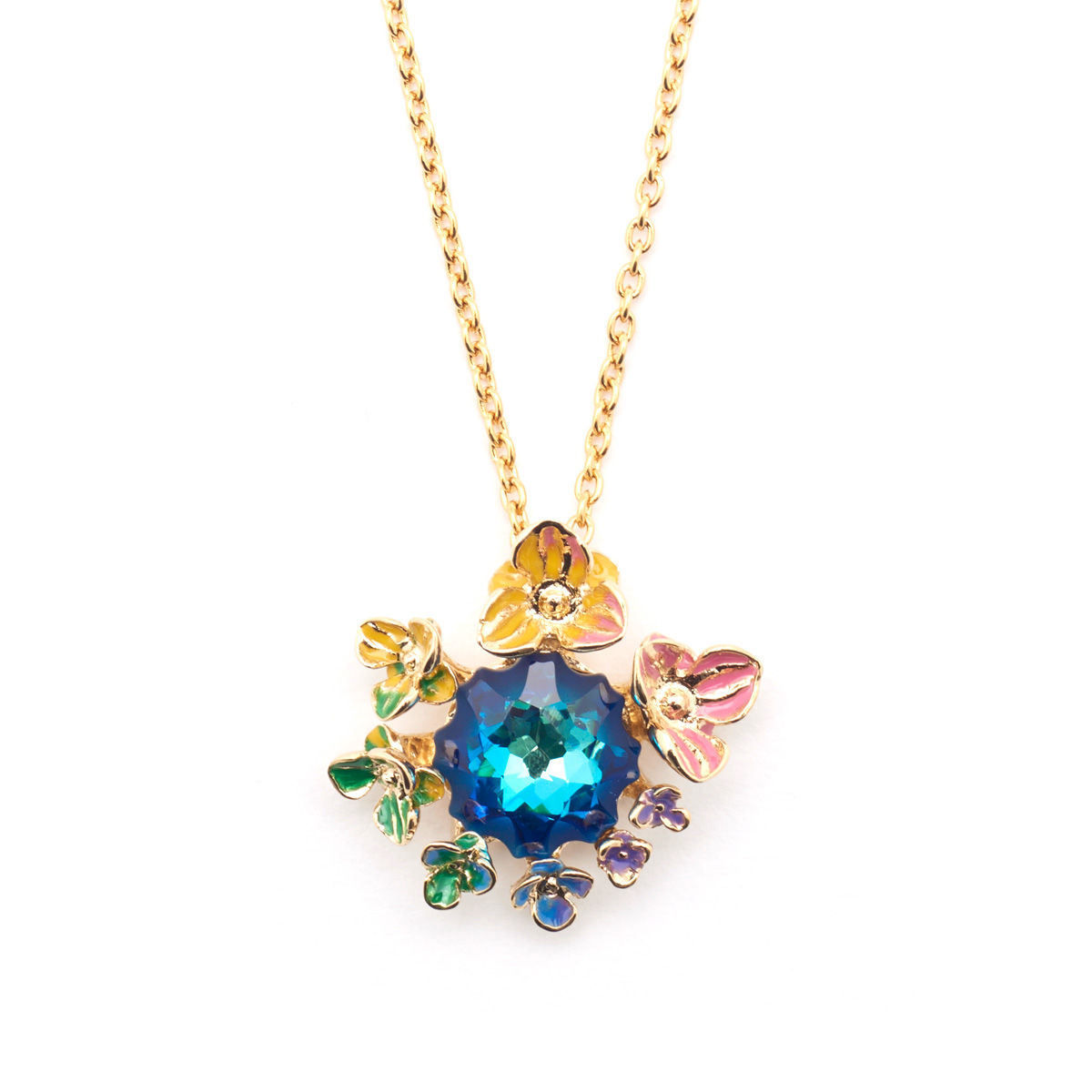 Flowers and Crystal Pendant by Bill Skinner