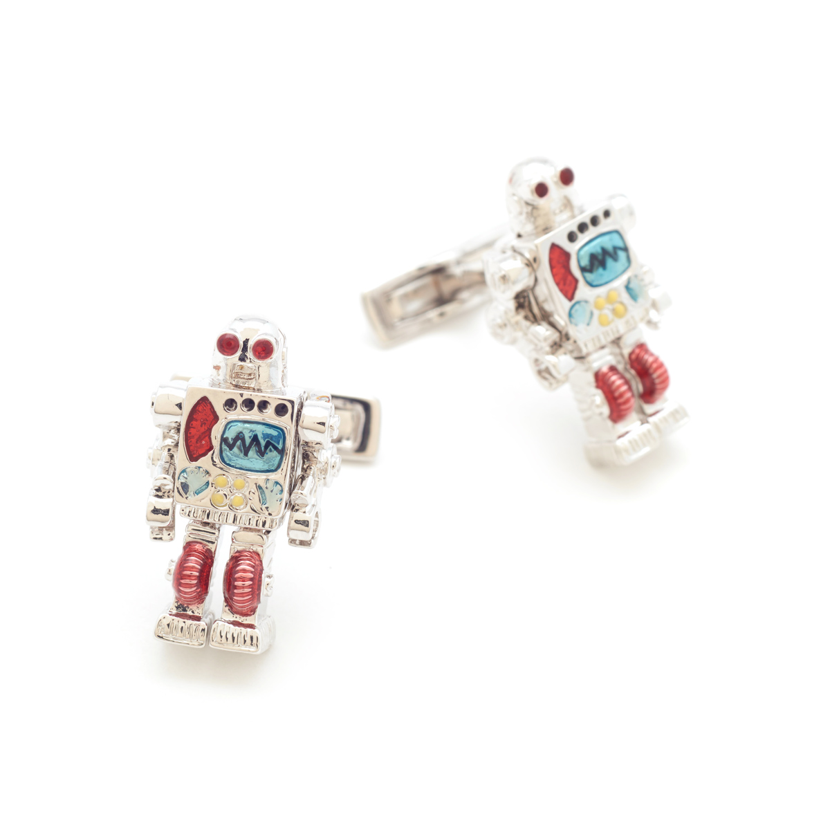 Robot Cufflinks by Bill Skinner
