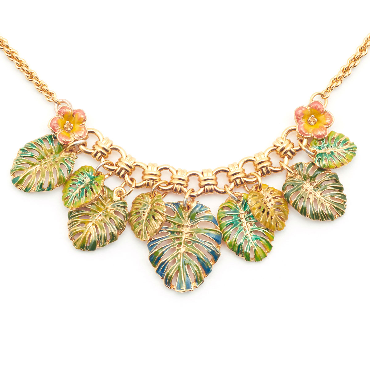 Tropical Collar Leaf Necklace by Bill Skinner