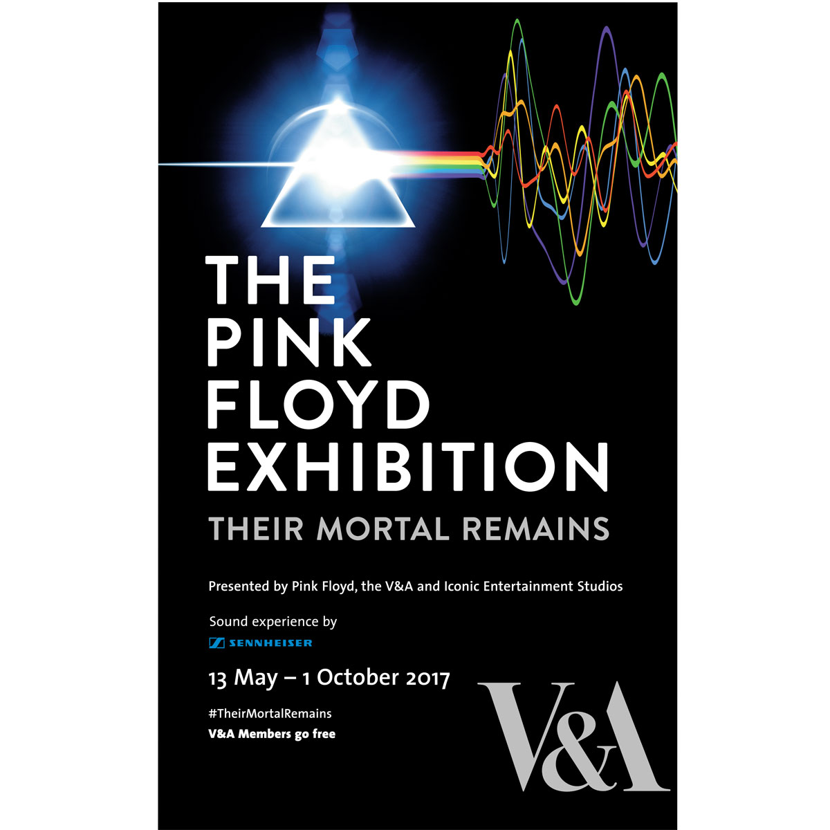 The Pink Floyd Exhibition: Their Mortal Remains exhibition poster