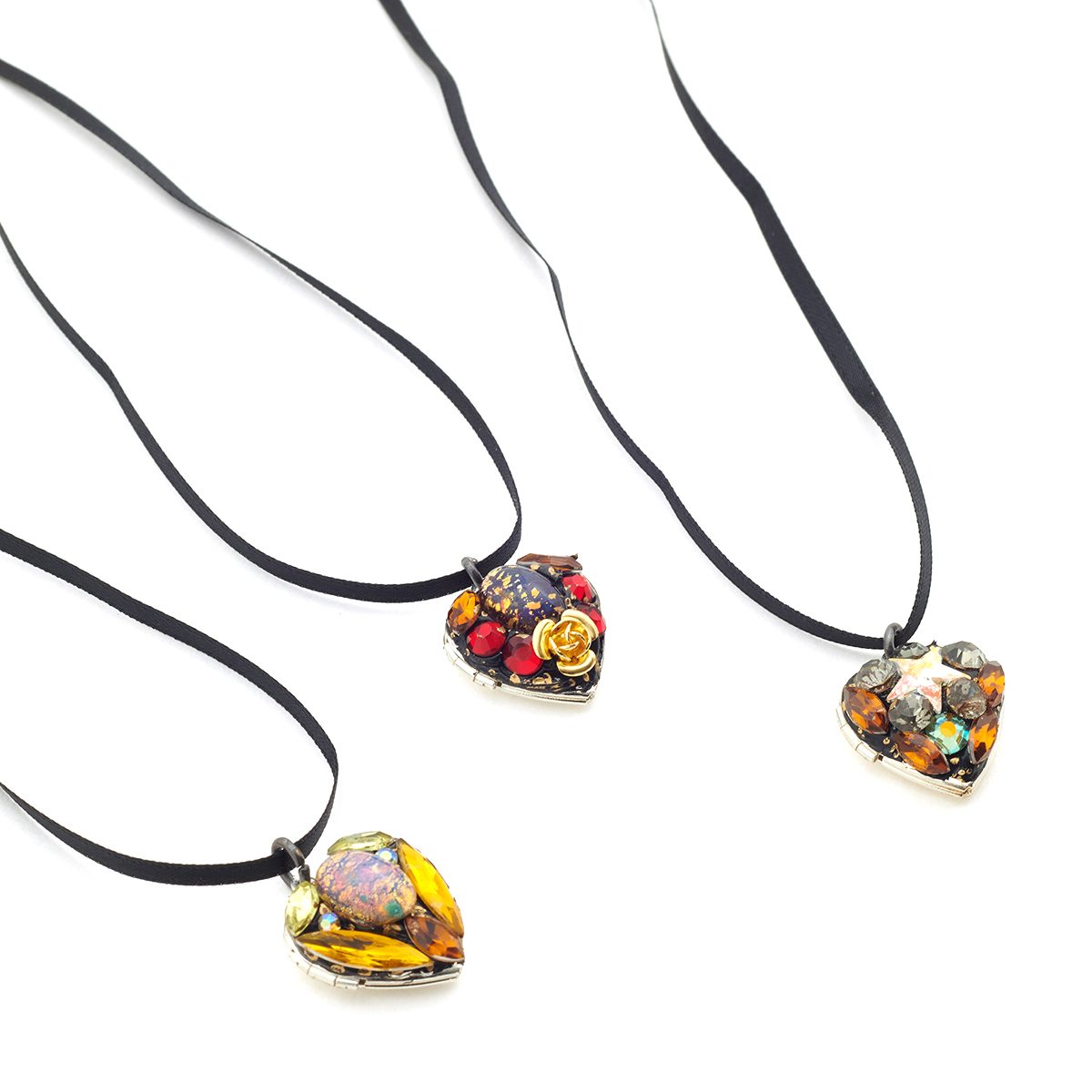 Heart locket necklace by Annie Sherburne - assorted
