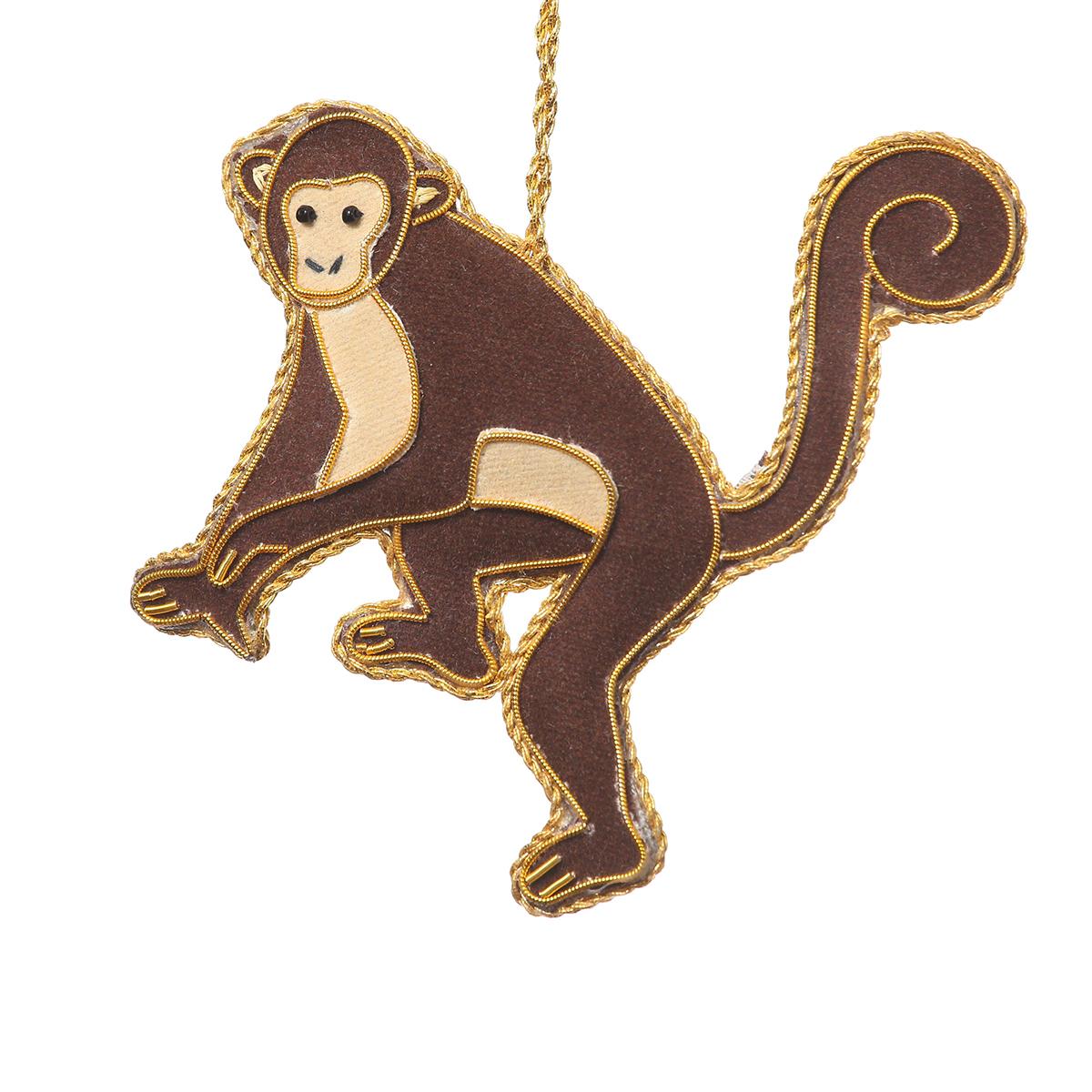 Monkey zardozi decoration