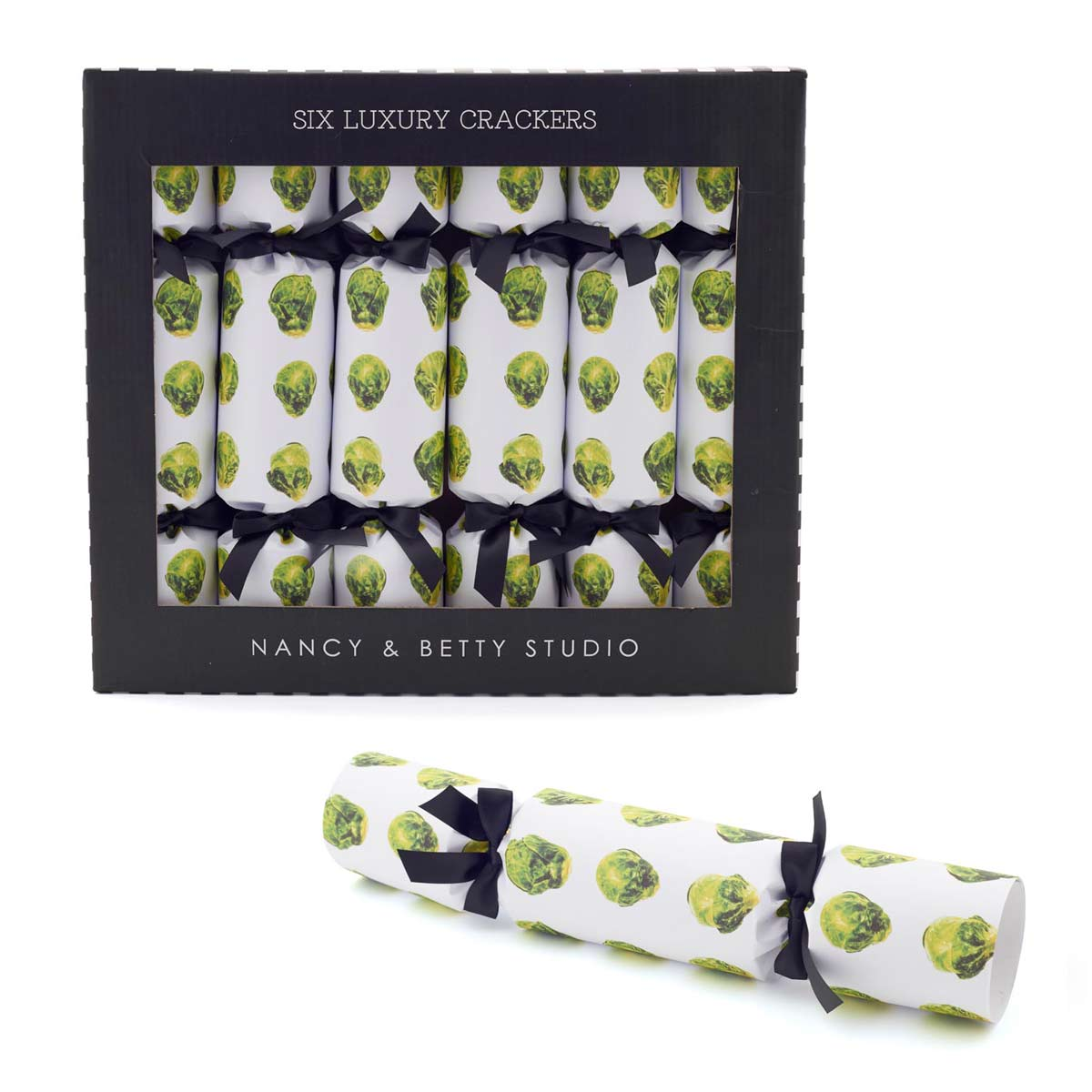 Sprouts Christmas crackers by Nancy & Betty