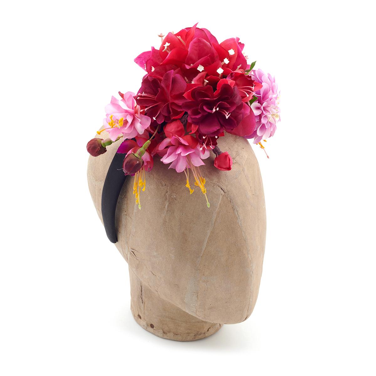 Fuchsia headdress by Philippa Craddock