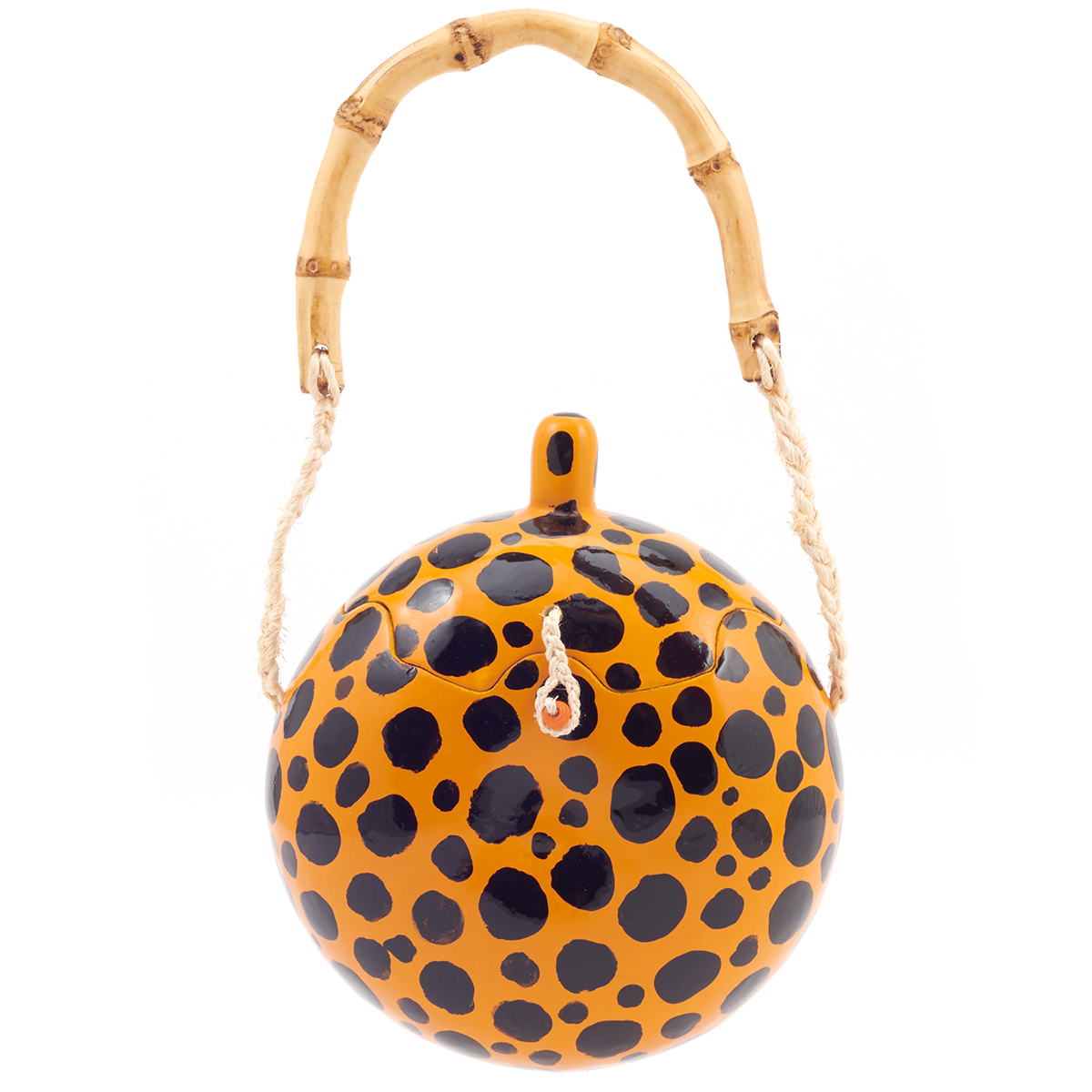 Leopard print guaje bag by Carla Fernandez