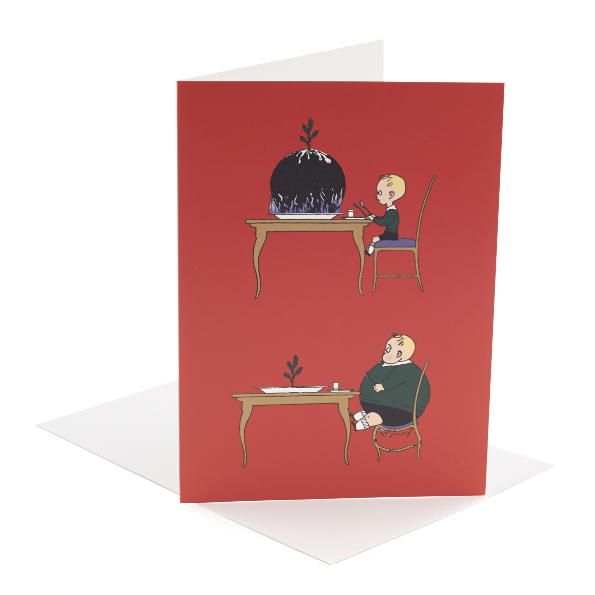 V&A Christmas cards – Pudding Boy (pack of 8)