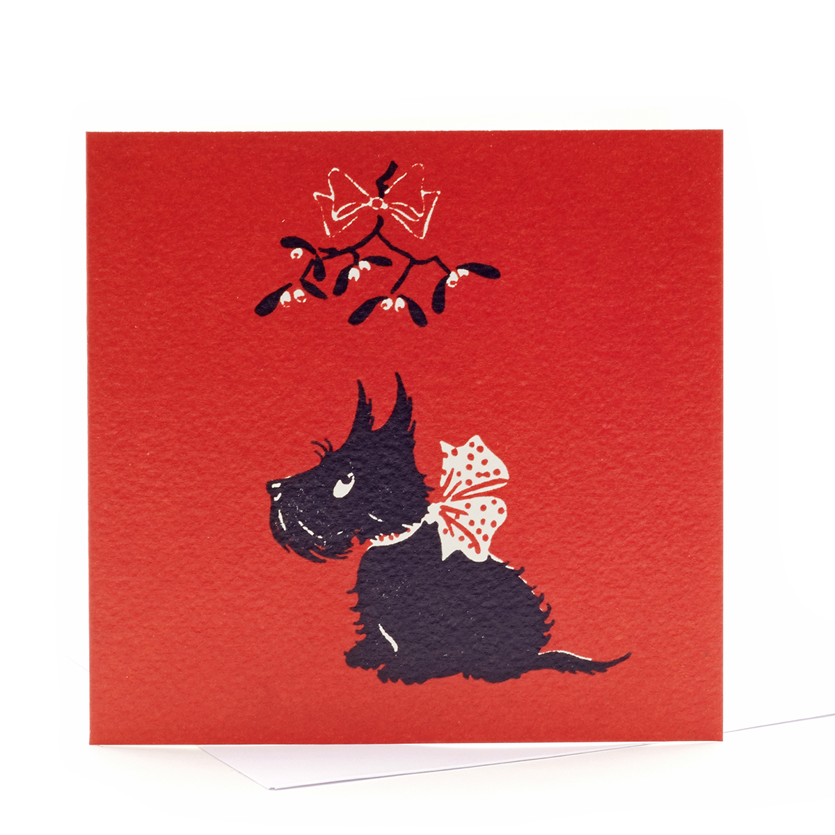 V&A Christmas cards Scottie dog (pack of 8)