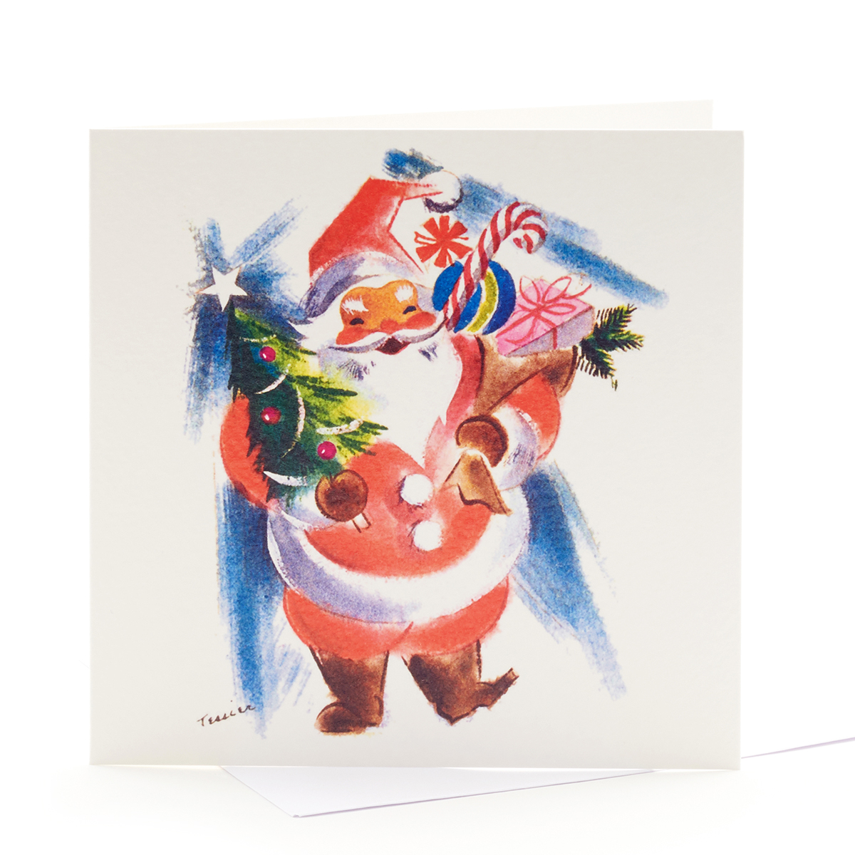 V&A Christmas cards – Jolly Santa (pack of 8)