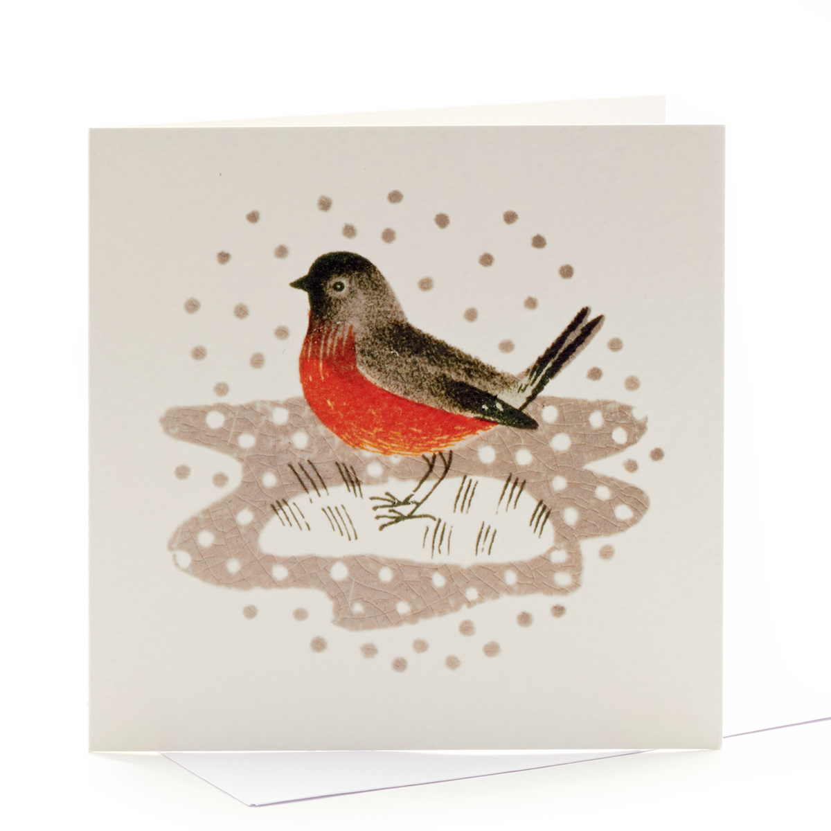 V&A Christmas cards – Christmas robin motif (pack of 8)
