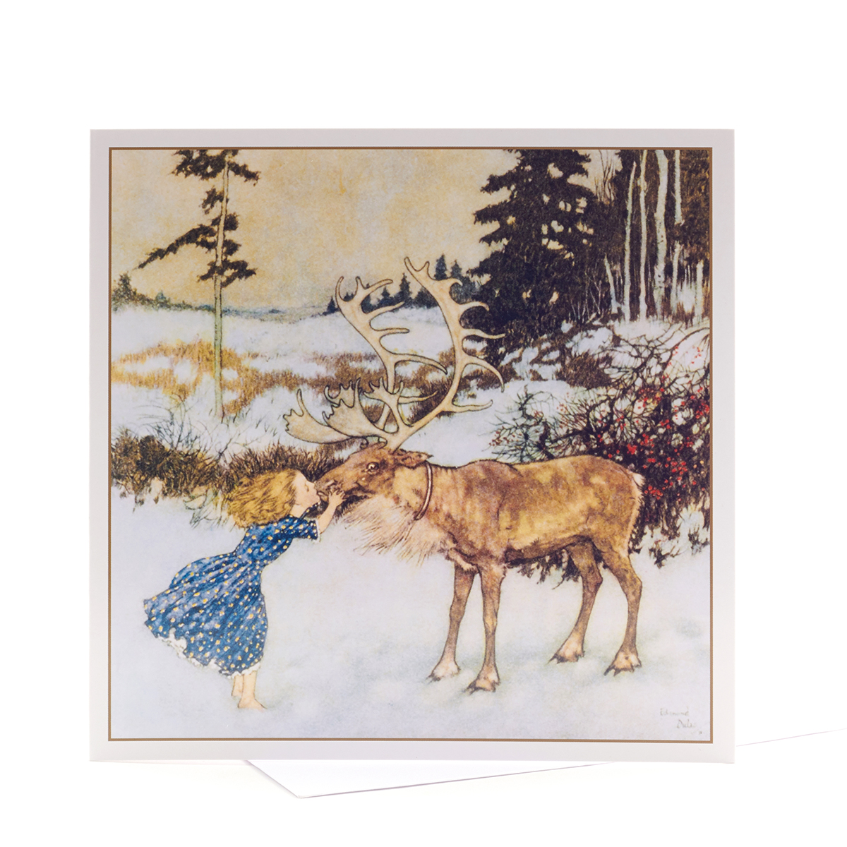 V&A Christmas cards - Gerda and the Reindeer (pack of 5)
