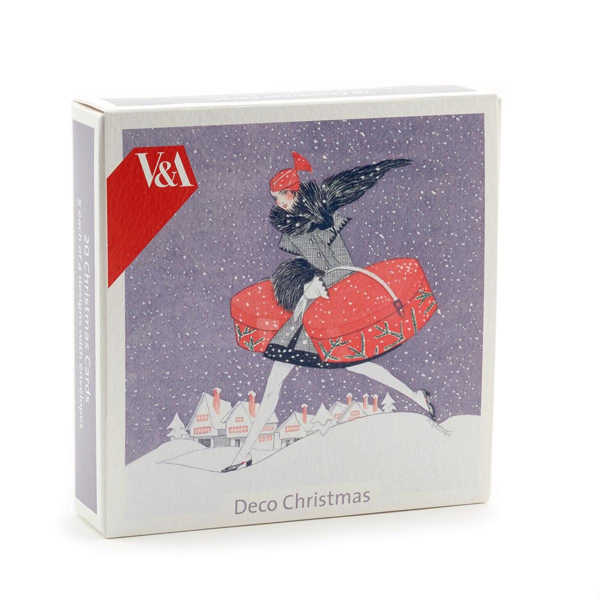 20 Art Deco Christmas cards set of 4 designs