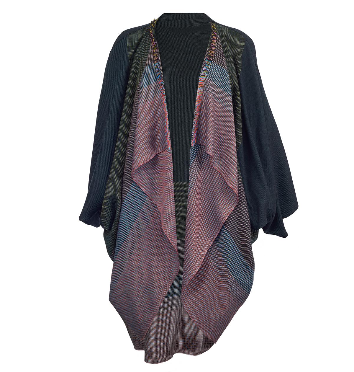 Woven jacket by Brigitte Leclerq
