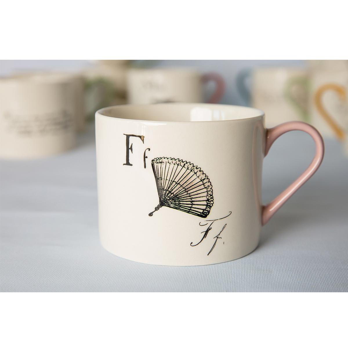 Edward Lear alphabet mug - F