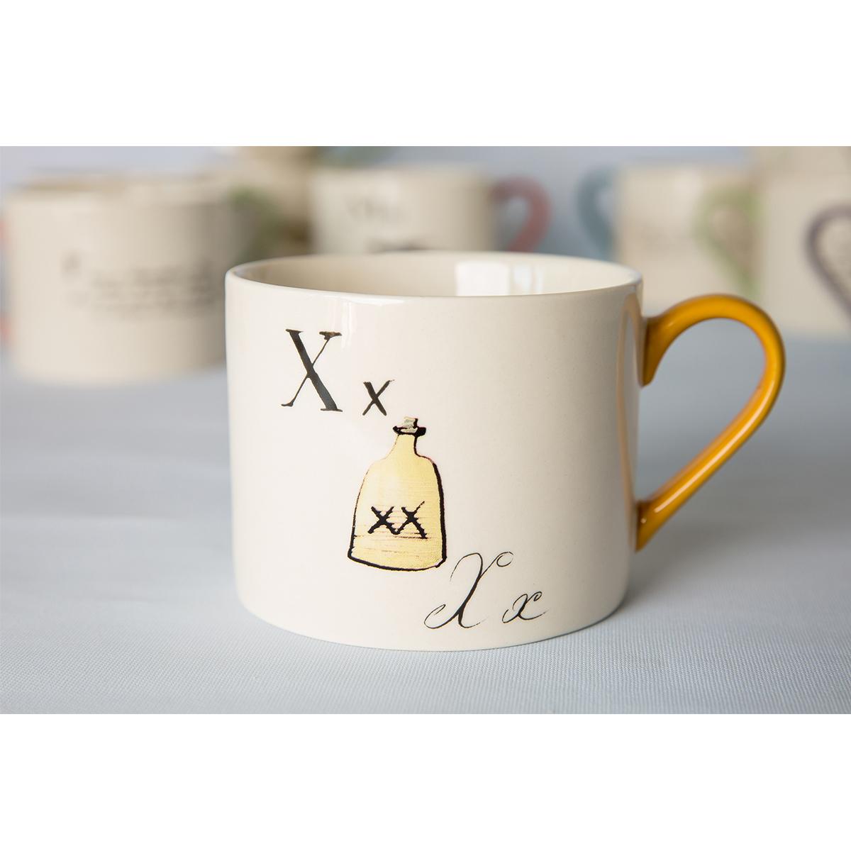 Edward Lear alphabet mug - X