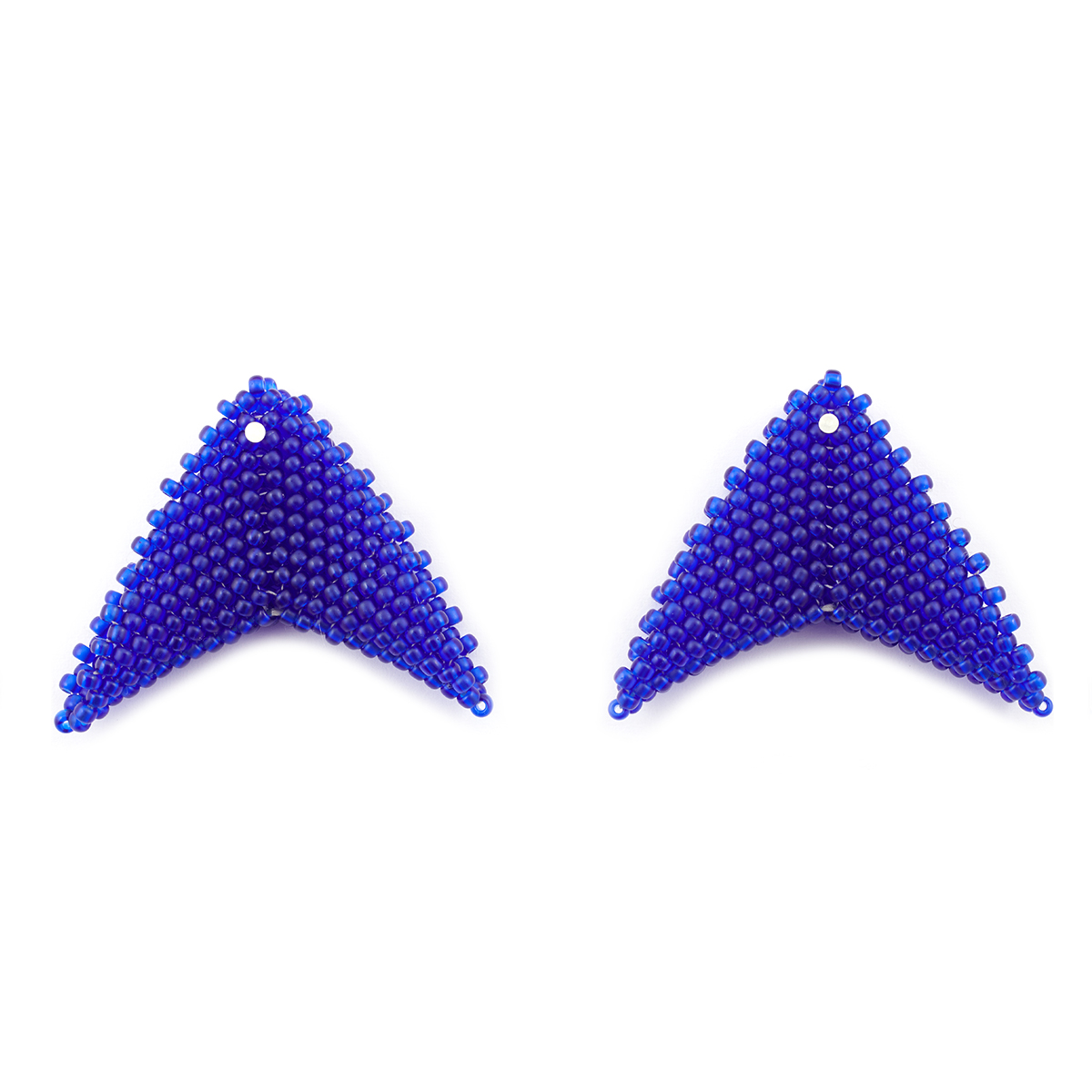 Indigo stud earrings by Beloved Beadwork