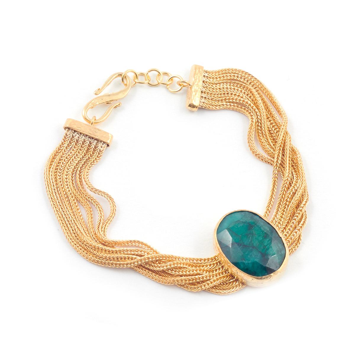 Multi-strand emerald bracelet by Ottoman Hands