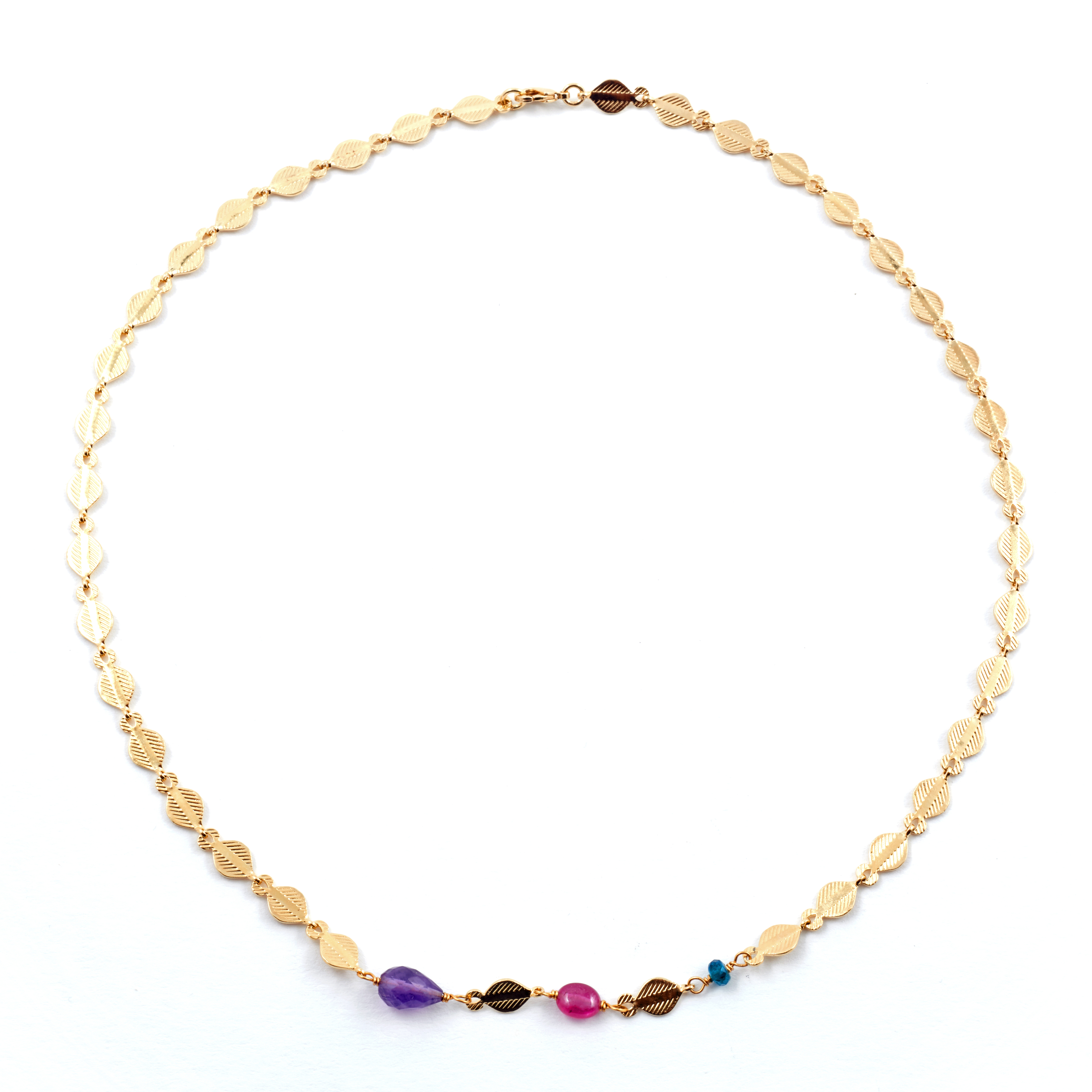 Gemstone necklace by Mirabelle