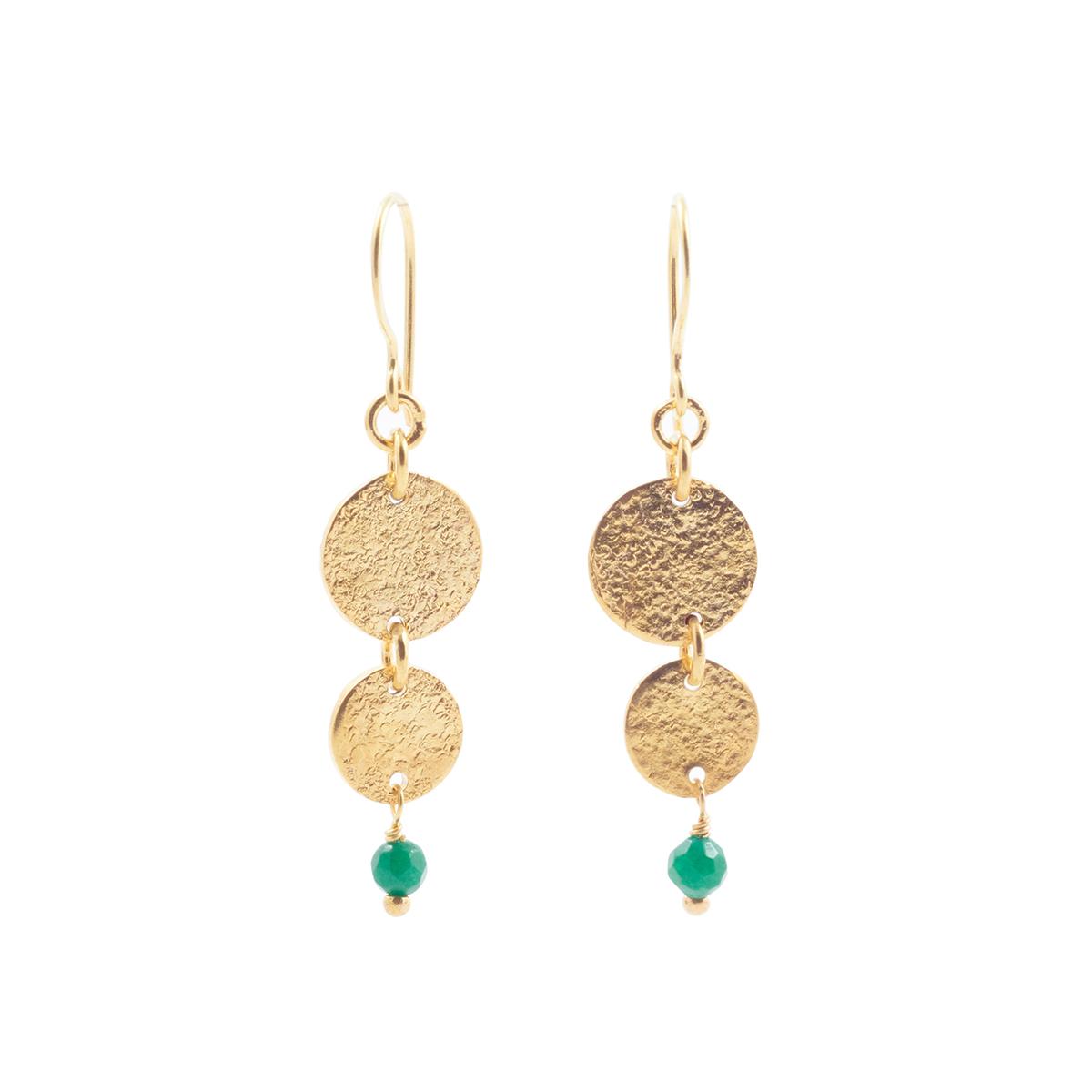 Disc earrings by Mirabelle