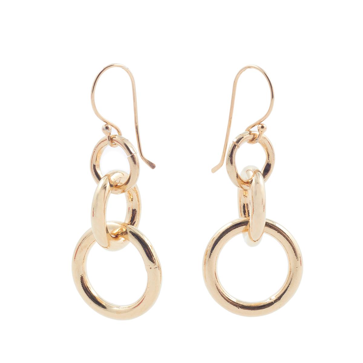 Hoop chain earrings by Mirabelle