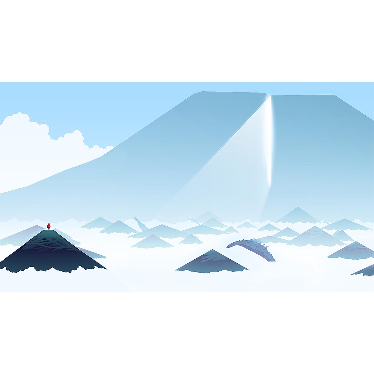 Mountain in the Sky, Journey, 2012 by Thatgamecompany - limited edition print