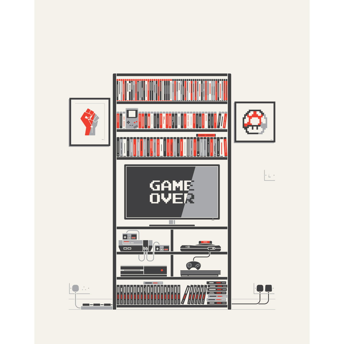 The Video Game Collector by Sean Mort - signed print