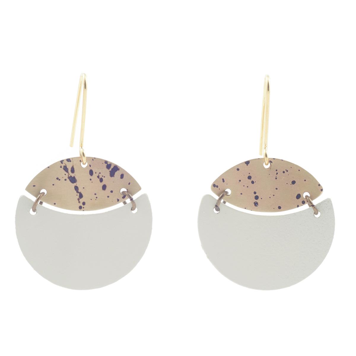 Cream hook earrings by Sibilia